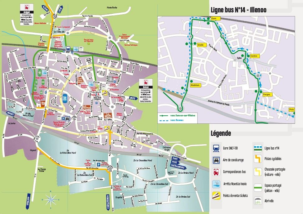 Carte des Transports sur Noyal