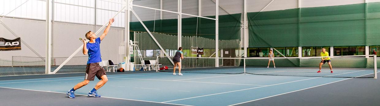Bandeau de la page 'Pôle tennis Courts du bois  Le pôle tennis intercommunal