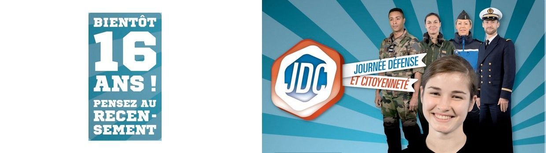 Bandeau de la page 'Journée défense et citoyenneté (JDC)