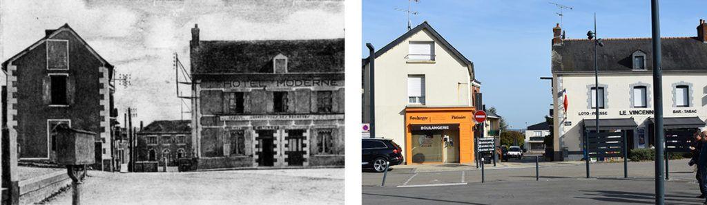 Depuis l'église, la rue Alexis Geffrault offrait jusque dans les années 50 une vue sur l'ancienne école publique, remplacée au début des années 1960 par la salle de la Parenthèse.